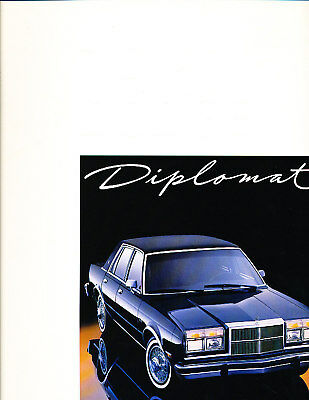 1987 dodge diplomat original car sales brochure salon for 1987 dodge diplomat salon