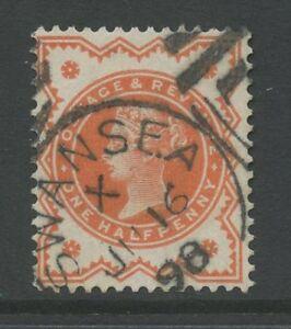 WALES-SWANSEA-1898-FINE-POSTMARK-on-QV-1-2d