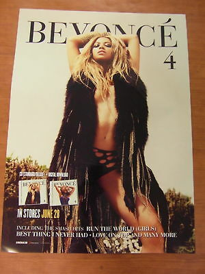 BEYONCE - 4 (2 Sided) [OFFICIAL] POSTER *NEW*