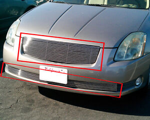 Billet-Grille-Combo-Grill-Up-Low-for-04-05-06-Nissan-Maxima
