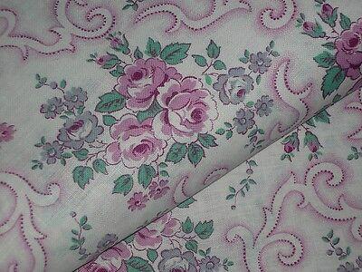 Alt  Bauernbettwäsche-Stoff  Rosen  Rosa/Pink  130 cm  /50 cm  UNBENUTZT Shabby