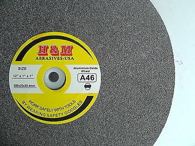 Aluminum Grinding Wheel 12x1x1 A46 Sharpen Tool