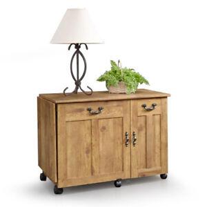 New sauder sewing craft cart table desk cabinet storage ebay for Sauder sewing craft table