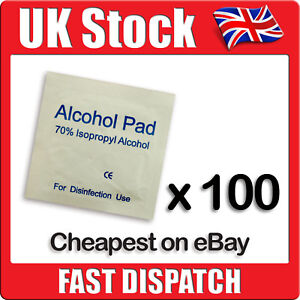 100 x IPA Wipes 70% Isopropyl Alcohol Swabs NHS Quality