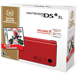 Nintendo-DSi-XL-25th-Anniversary-Edition-with-Mario-Kart-Red-Handheld-System