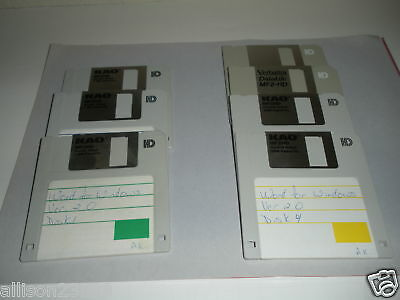 Microsoft Word For Windows Ver  2 0 Disks Only