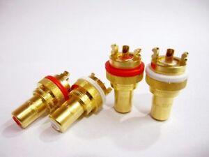 CMC-805-2-5F-Gold-Plate-RCA-Socket-2-pairs-4-pcs