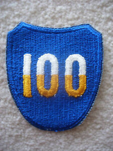 1950s-US-Army-100th-Infantry-Division-cut-edge-patch