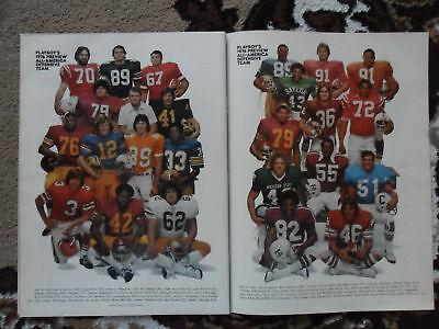 1976 Magazine Photo Page ~ Tony Dorsett Tennessee Football All American Team