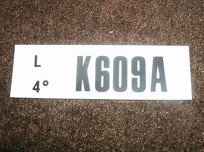 1970 Ford Mustang 351 4v Shaker Engine Code Decal