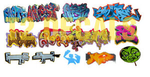 HO-Scale-Custom-Graffiti-Decals-26-Weather-Box-Cars-Hoppers-Gondolas