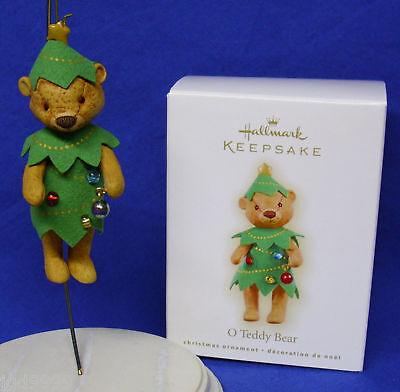 Hallmark Christmas Ornament O Teddy Bear 2009 Bear Christmas Tree Free Ship