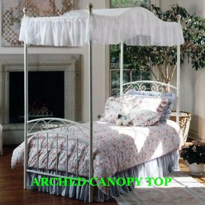 Twin Size Arched Canopy Top -lt Blue Eyelet 44wide X 89 Long Or Custom Size