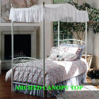 Twin Size Arched Canopy Top - Eyelet 44wide X 89 Long