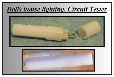 1/12 Dolls House Lighting Diy Circuit Tester Miniatures Electrics Probe Lgw