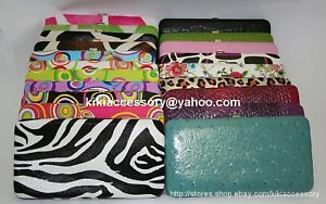HARD-CASE-METAL-FRAME-FLAT-OPERA-WALLET-PURSE-CLUTCH-CHECKBOOK-CARD-HOLDER-GIFT