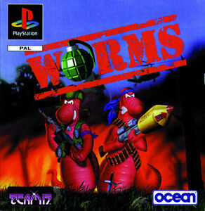 Play Station Spiel PS1 Worms Platinum (Cover fehlt) mit Anleitung