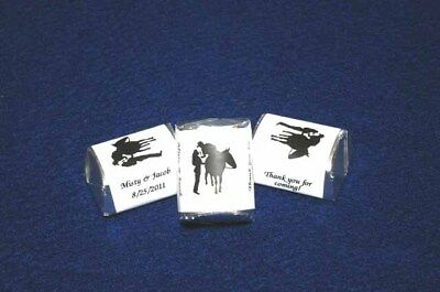 120 Western Cowboy Wedding Candy Wrapper Favor Nugget Personalized Just For You