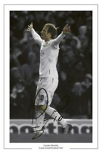 LUCIANO BECCHIO LEEDS UNITED AUTOGRAPH PHOTO SIGNED