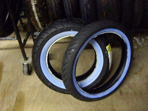 A PAIR OF  WHITE WALL TIRES 170/80-15 & 100/90-19