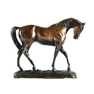 Graceful Dressage Bronze Horse Statue by David Geenty