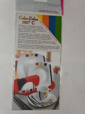 4 Feuilles Décoratives Pour Porcelaine, Multicolore (b)