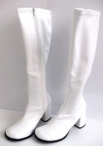 WHITE GoGo Platform Boots 60s 70s Hippy Retro Sizes 3, 4 ... - photo #23