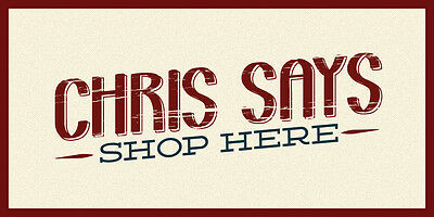 Chris says SHOP HERE