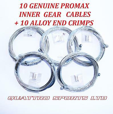 10 X INNER GEAR CABLES + CRIMP ENDS, ROAD, MTB, SHIMANO ETC.