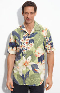 NWT✿Tommy Bahama✿Hawaiian✿Camp Shirt✿SILK✿Imperial Lotus✿Green✿L✿Cruise Wear✿XL