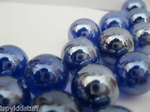 300-Home-Decor-Accent-Marbles-SHINY-COBALT-BLUE-for-Decorative-Bowl-or-Vase