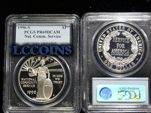 1996-S-National-Community-Service-Silver-Commemorative-Dollar-PR69DCAM-PCGS