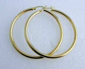 21/2mm 2 inch 14k gold  hoop earrings