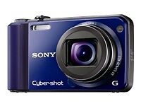 New-Sony-Cyber-shot-DSC-H70-16-1-MP-Digital-Camera-Blue-4GB-SD-card