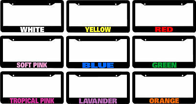 Custom Personalized License Plate Frame Choice Of Color