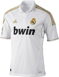 ADIDAS REAL MADRID YOUTH HOME JERSEY 2011/12 LARGE.