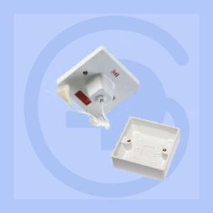 Shower-Pull-Cord-45A-Ceiling-Switch-White-with-Back-Box