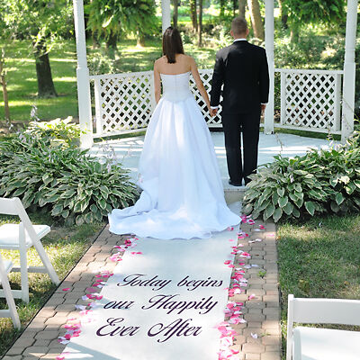 New Personalized Custom Aisle Runner 100' In Colors