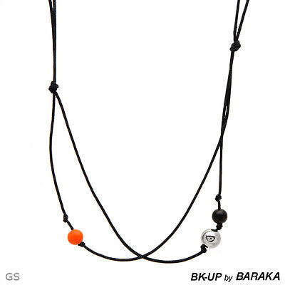 Bk-up By Baraka Made In Italy Necklace Black Plastic
