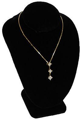 New Black Velvet Necklace Jewelry Display Busts 6