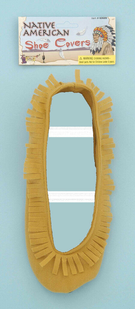 Deluxe Adult Native American Shoe Covers Moccasins Halloween Costume Accessory