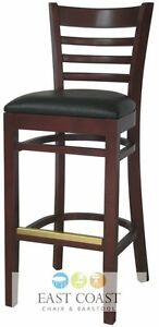 Wood-Mahogany-Restaurant-Bar-Stools-Restaurant-Chairs