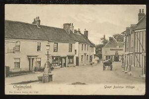 Essex-CHELMSFORD-Great-Baddow-Village-1905-PPC