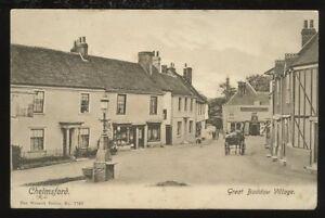 Essex-CHELMSFORD-Great-Baddow-Village-1905-PPC