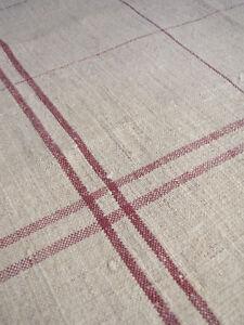 Vintage-pure-linen-hand-kitchen-burgundy-hemp-towel