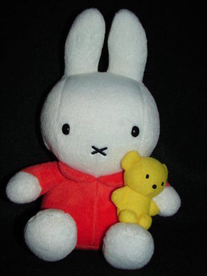 Plush MIFFY Bunny w/ Yellow Bear Orange Outfit Lovey on Rummage
