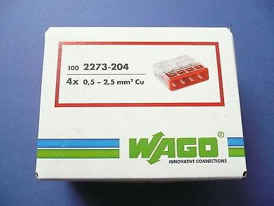 25x WAGO Klemmen Neu 2273-204