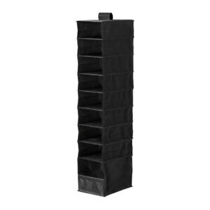 Ikea Black Shoe Closet Hanging Storage Organizer Rack Ebay