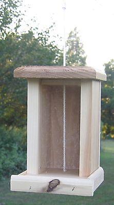 Lovely Cedar Bird Seed Feeder, Made in ...
