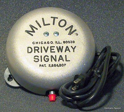 Milton 805 Driveway Service Gas Station Signal Bell wo/Hose-NEW Original Mfgr
